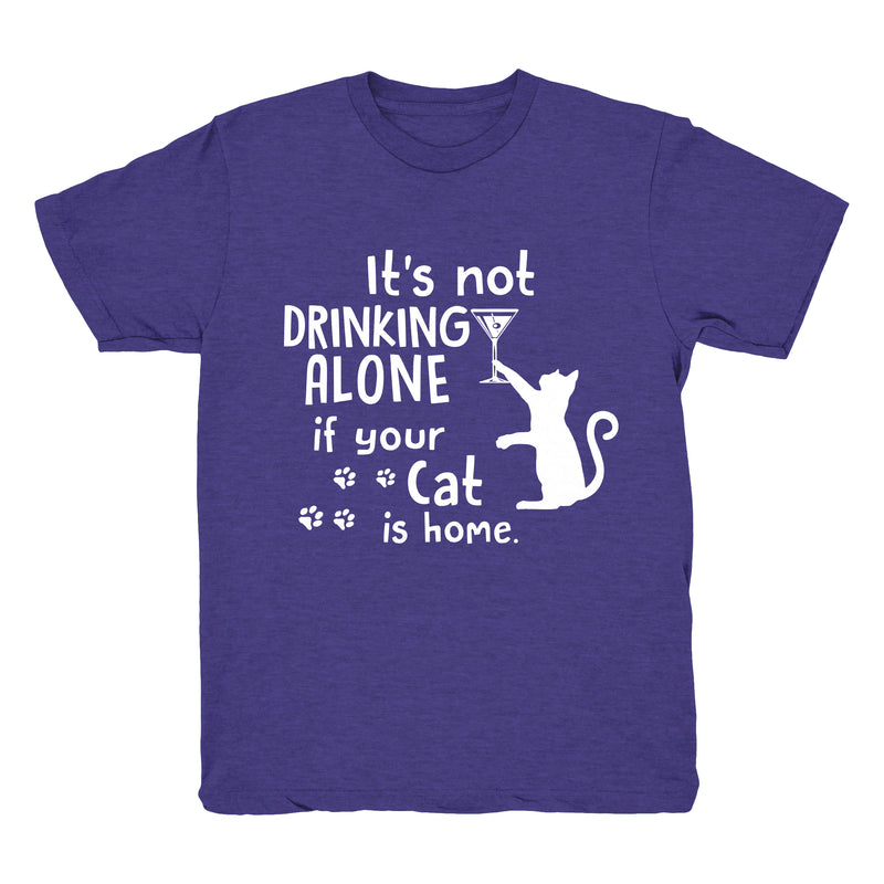 Drinking Wine With My Cat - Tee