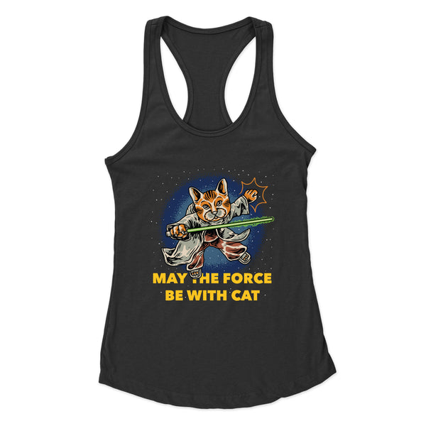 May The Force Be With Cat - Racerback Tank