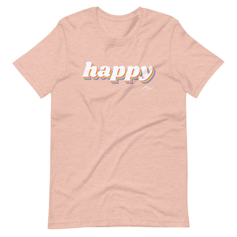 Happy - LGBTQ+ Pride - Short-Sleeve Unisex T-Shirt