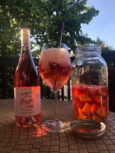 Peach & Strawberry Rosé Sangria