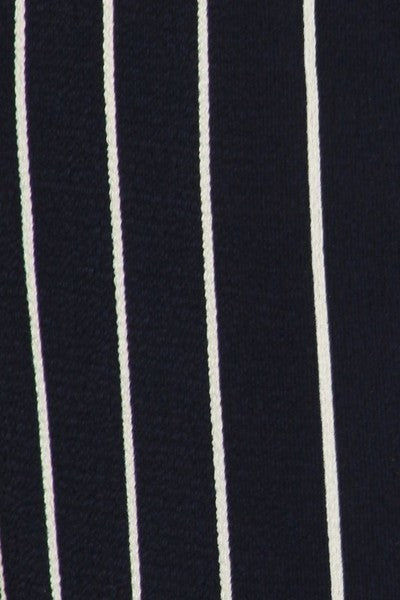 High Wasted Navy/Ivory Stripped Pant
