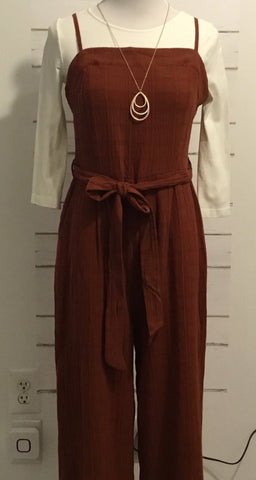 Sleeveless Jumpsuit (Copper)