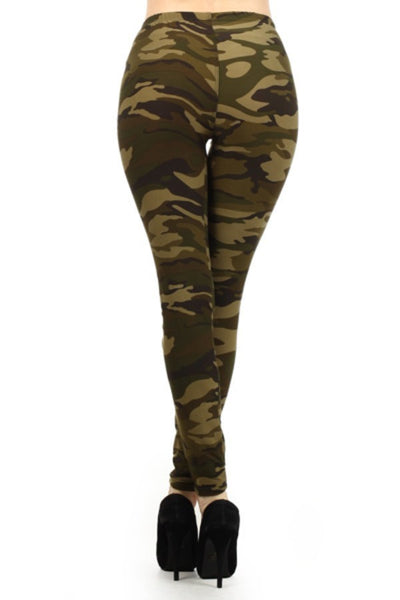 Fur Fleece Leggings (Camo)
