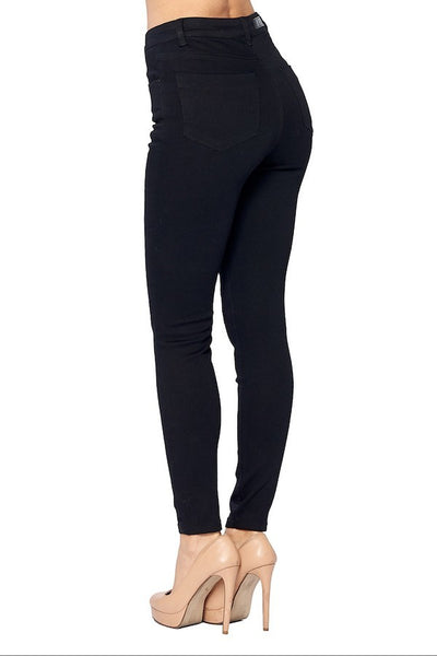 High Rise Skinny Jeans. (Black)