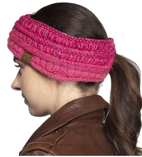 C.C Ombre Knit Ponytail Headband