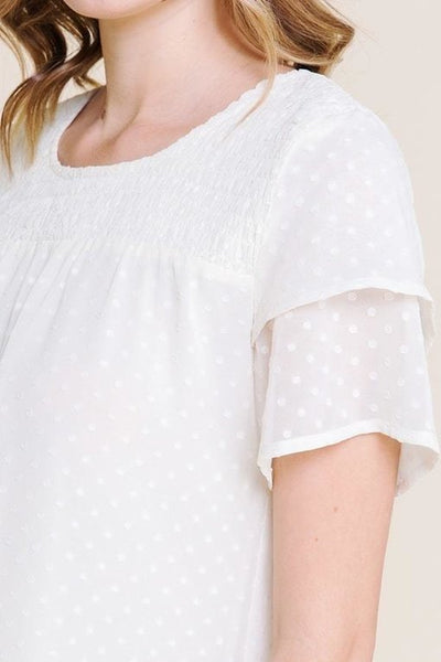 Swiss Dot Design Top