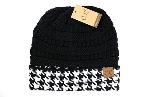 CC Beanie Houndstooth Hats