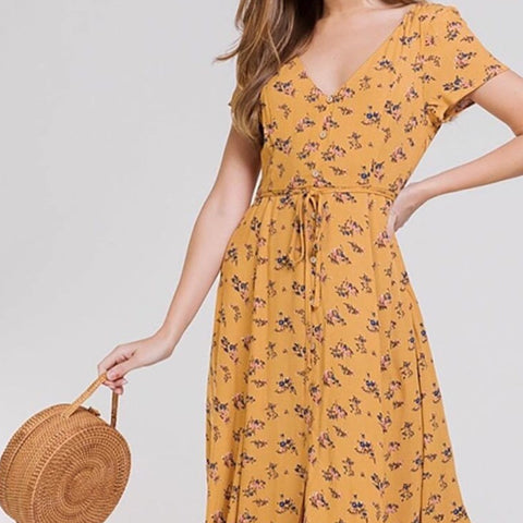 Dress- Botton Front Detail Midi Dress