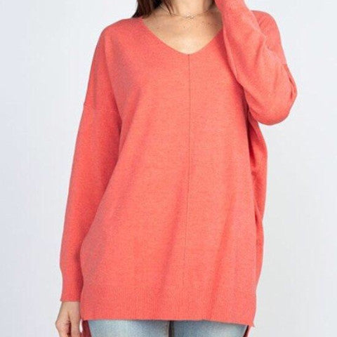 Seam Detail Pull Over Sweater (Spring Colors)