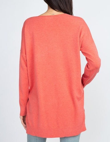 V-Neck Pull Over Sweater (Multiple Colors)