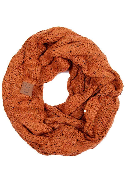 C.C. Cable Knit Infinity Scarf