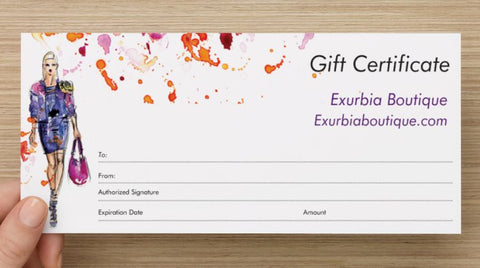 Gift Certificates- Click here for options