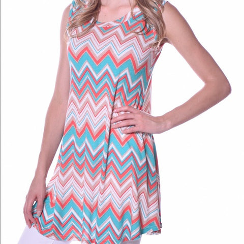 Chevron Tunic Top (Pastel Color)