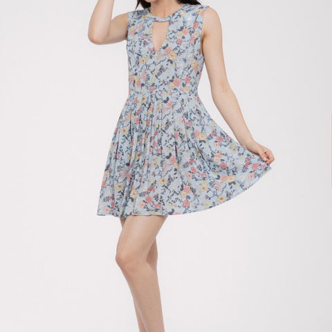 Dress- Sleeveless Midi Keyhole Style