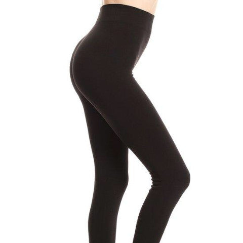"Fleece Leggings (Black) - 25"" Inseam"