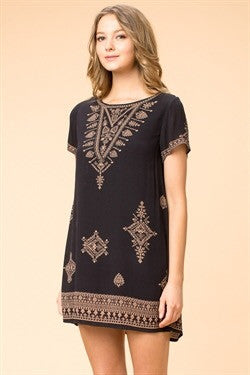 Dress - Little Black/Gold Design Dress