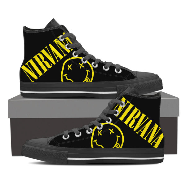 ROC | KIKS  Vintage Nirvana 87's High Top Chucks *Collectors Edition