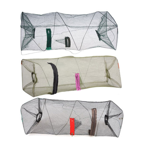 Collapsible | Zip-up Nylon Net Trap | For Small Fish and Shellfish