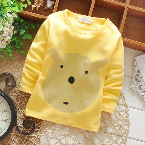 Cute Baby | Pastel Long-Sleeve Picture Tee Shirt | Sizes 9M - 24M