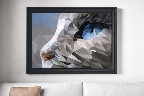 Polygonal Cat Painting Poster Art Print Canvas Print Wall Decor Canvas Poster Print Digital Print Designer Art Painting Wall Art Home Gift