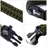 Paracord Survival Bracelet 5 in 1 Travel Kit