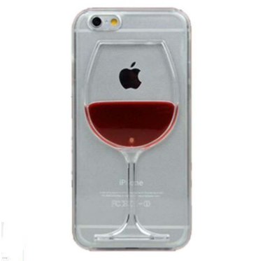 Red Wine Cup Liquid Case Cover For Apple iPhone