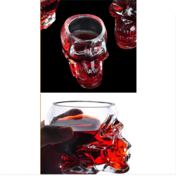 Crystal Skull Head Shot Glass Mug
