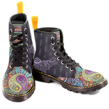 Womens Canvas Boots - Black