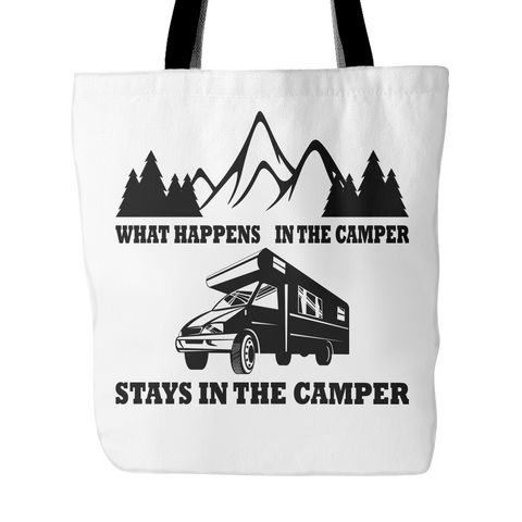 What Happens In The Camper Tote Bag