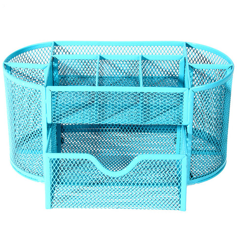 Multifuction | Colored Metal Mesh Office Desk Organizer | Pen Holder