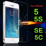 Anti Shatter | Tempered Glass Film Screen Protector | For Apple iPhone 4 4s 5 5s SE 5c 6 6s 6s Plus 7 7 Plus