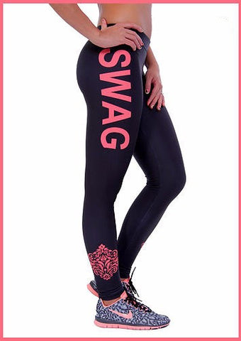 Womens Fitness Leggings | Workout Yoga Pants With Wording
