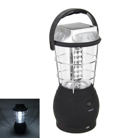Solar Chargeable | Battery Or Hand Crank Powered | 36 LED Lantern