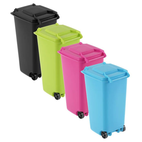 Funny | Recycled Plastic | Mini Wheelie Bin Desk Organizer | Pen Holder