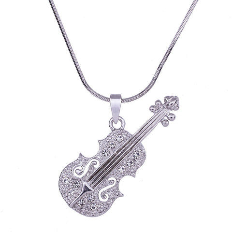 Unique Violin Lovers Necklace Design