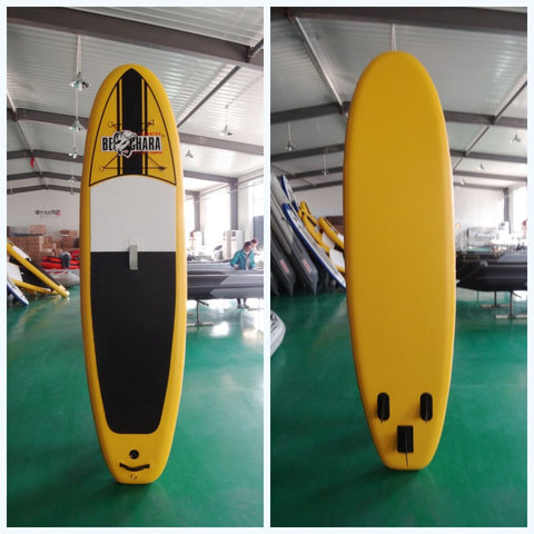 Yellow Inflatable Stand Up Paddle Board with Standard Accessories