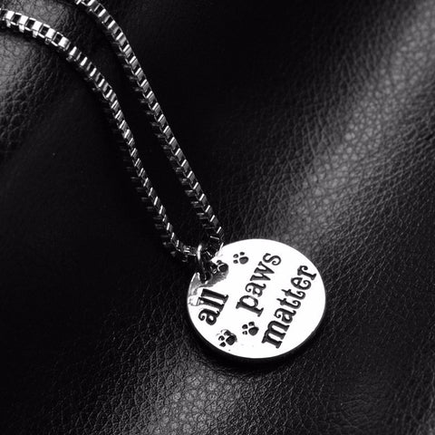 "Love Animals ""#allpawsmatter"" Necklace"