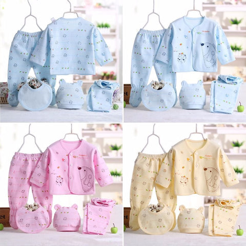Newborn Baby 0-3 Monthes | 5PC Clothing Set