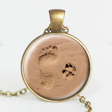 Special Dog Lover Beach Paw Print | Necklace Pendant Free Deal Dash