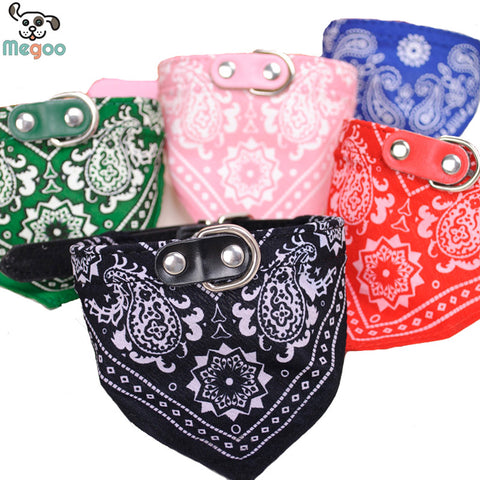 Decorative Pet Dog Paisley Scarf Collar | Adjustable Puppy Bandana