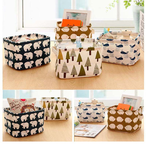 Soft-Sided | Folding Desk Organizer Baskets