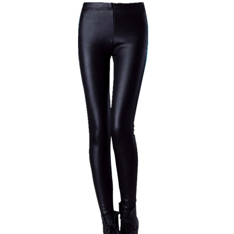 Womens Winter | Sleek Imitation Leather Leggings