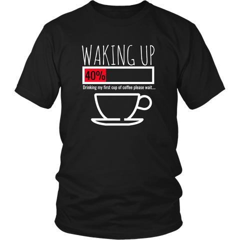 Waking Up Coffee Cup Shirt