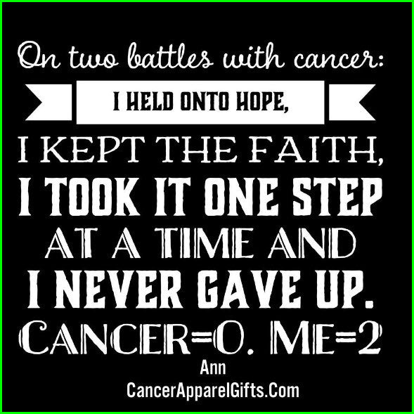 On Two Battles With Cancer