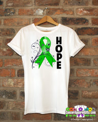 Adrenal Cancer Floral Hope Ribbon T-Shirt