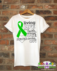 Adrenal Cancer Living Life With Faith Shirts