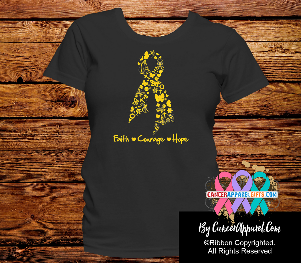 Appendix Cancer Faith Courage Shirts