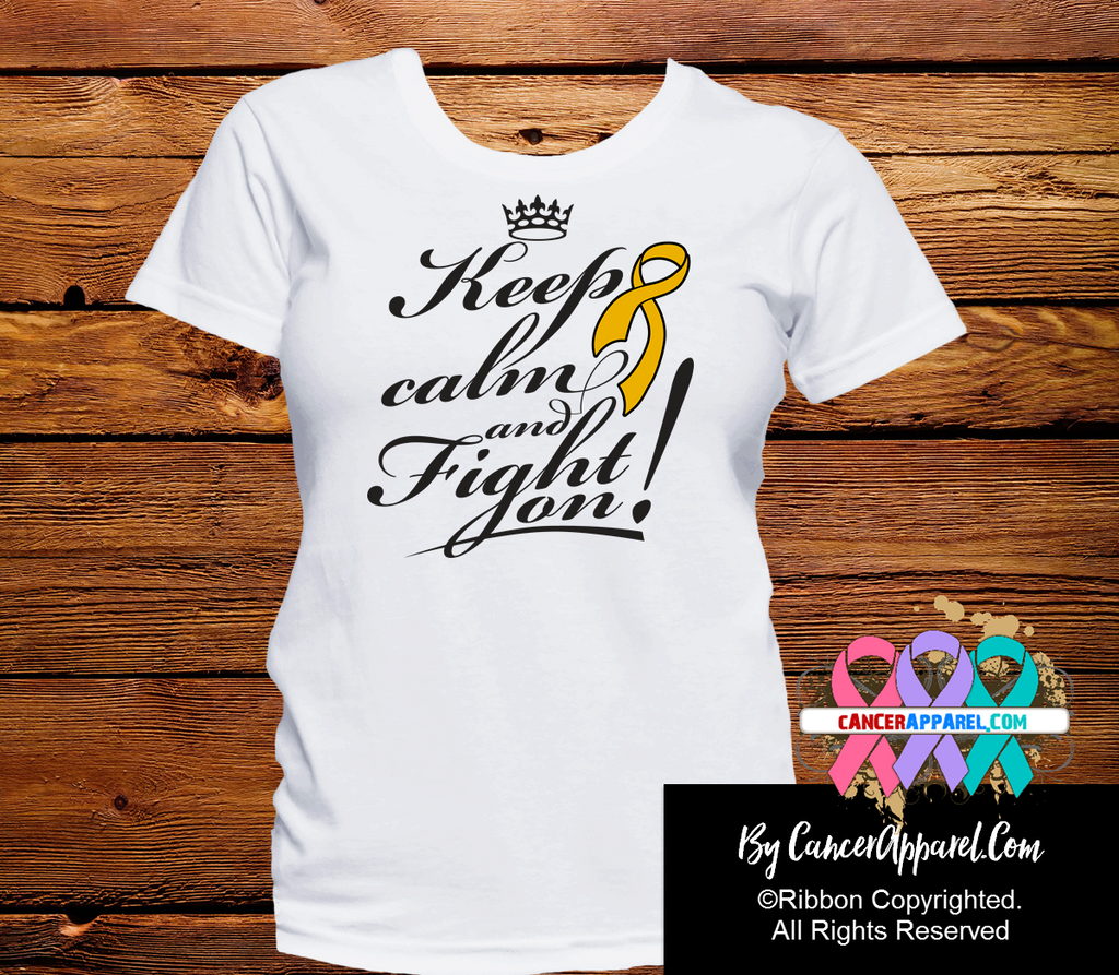 Appendix Cancer Keep Calm and Fight On Shirts