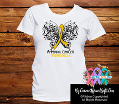 Appendix Cancer Butterfly Ribbon Shirts - Cancer Apparel and Gifts