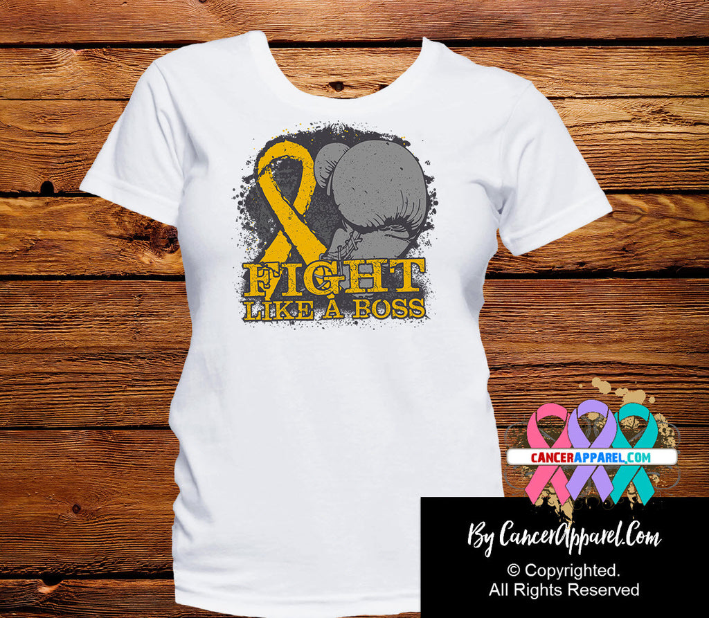 Appendix Cancer Fight Like a Boss Shirts